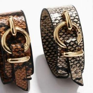 Tan Snake print cuff